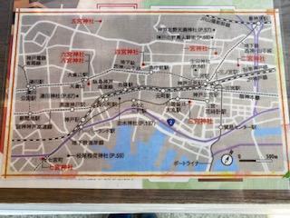 神戸八社巡り地図